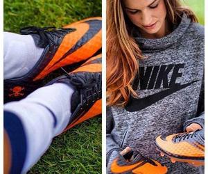 football, nike, and soccer image