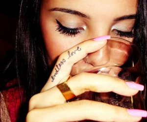 girl, pretty, and tattoo image