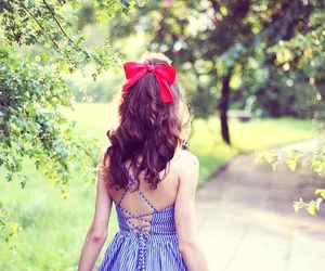 dress, hair, and bow image