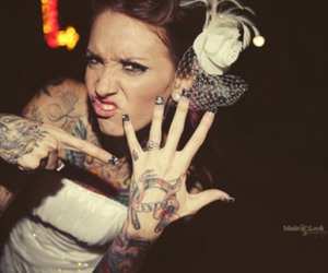 girl, tattoo, and bride image