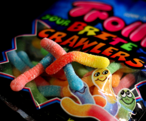 candy, gummy worms, and food image