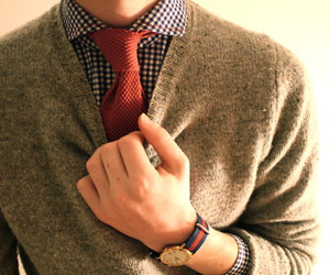 tie, sweater, and boy image