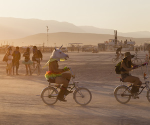be cool, bikes, and Burning Man image