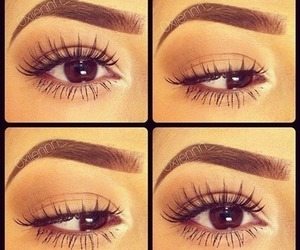 brown, lashes, and long image