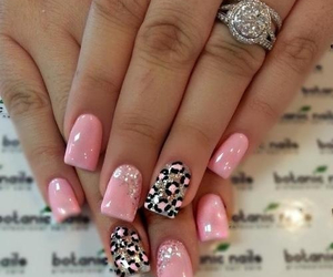 fashion, glitter, and nail art image