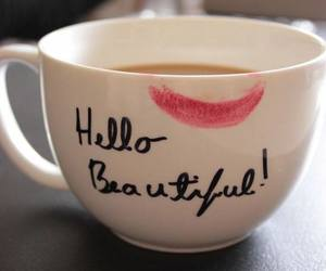 beautiful, coffee, and hello image