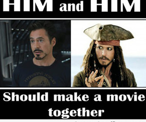 iron man, jack sparrow, and the avengers image