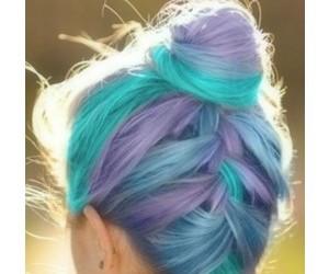 hair, blue, and braid image
