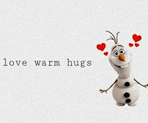 frozen, hugs, and olaf image
