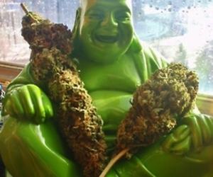 weed, Buddha, and cannabis image
