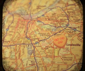 kentucky, map, and louisville image