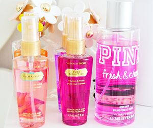 pink, Victoria's Secret, and perfume image