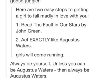 tfios, augustus waters, and john green image
