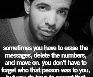 quote, Drake, and move on image