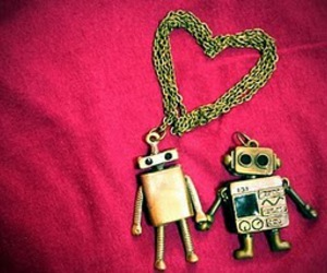 love, robot, and heart image