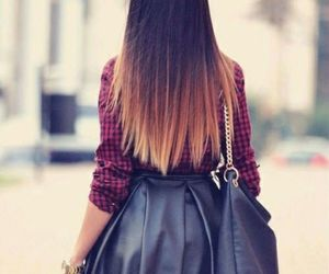 fashion, skirt, and ombre image