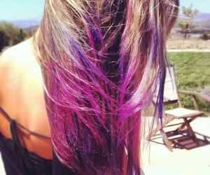 hair, hair color, and swag image