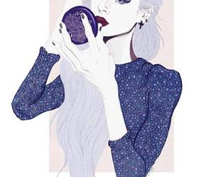 fashion, girl, and violet image