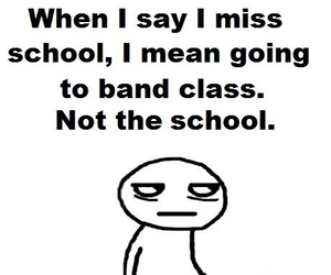 school and band class image