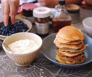 berries, nutella, and tea image