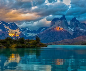 chile, lake, and torres del paine image