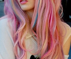 hair, pink, and colors image