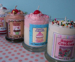 candle, sweet, and cupcake image
