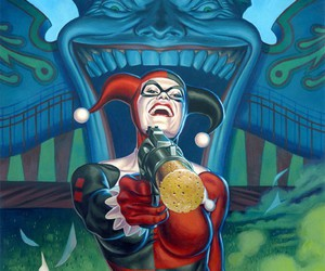 harley quinn, art, and joker image