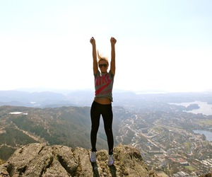 mountains, fit, and nike image