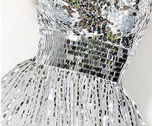 dress, silver, and glitter image