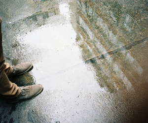 rain, shoes, and vintage image
