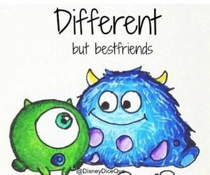 different, best friends, and monsters image