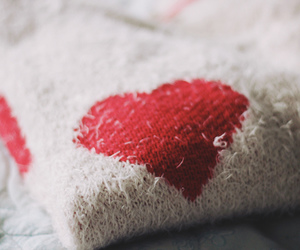 adorable, heart, and sweater image
