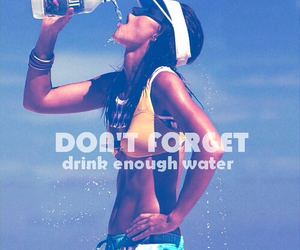 water, fit, and fitness image