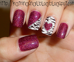 nails, zebra, and heart image
