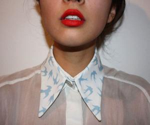 girl, fashion, and lips image