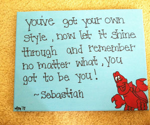 little mermaid, be you, and quote image