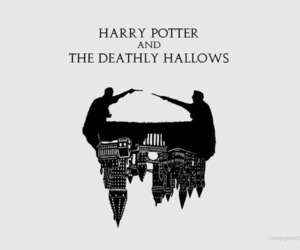 harry potter, book, and the deathly hallows image