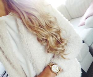 hair, blonde, and fashion image