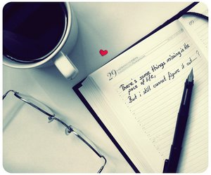 coffee, quote, and heart image