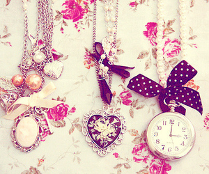 girly and necklces image