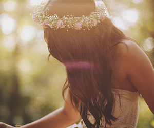 amazing, dress, and flower crown image