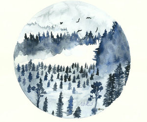 blue, watercolor, and paint image
