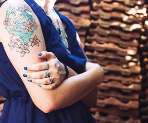 blue, fashion, and sakura image