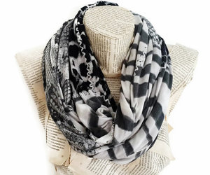 women accessories, cotton jersey knit fabric, and soft circle scarf image
