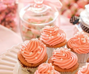 cupcakes, pink, and coral image