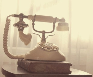 telephone, vintage, and book image