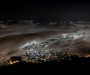 light, city, and clouds image