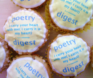 cupcakes, heart, and poetry image