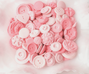 pink, buttons, and cute image